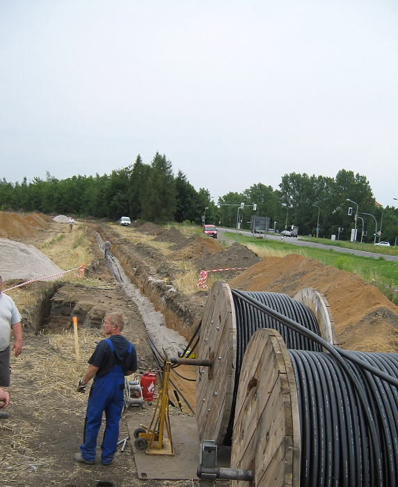 Mittelspannungstrassen errichten